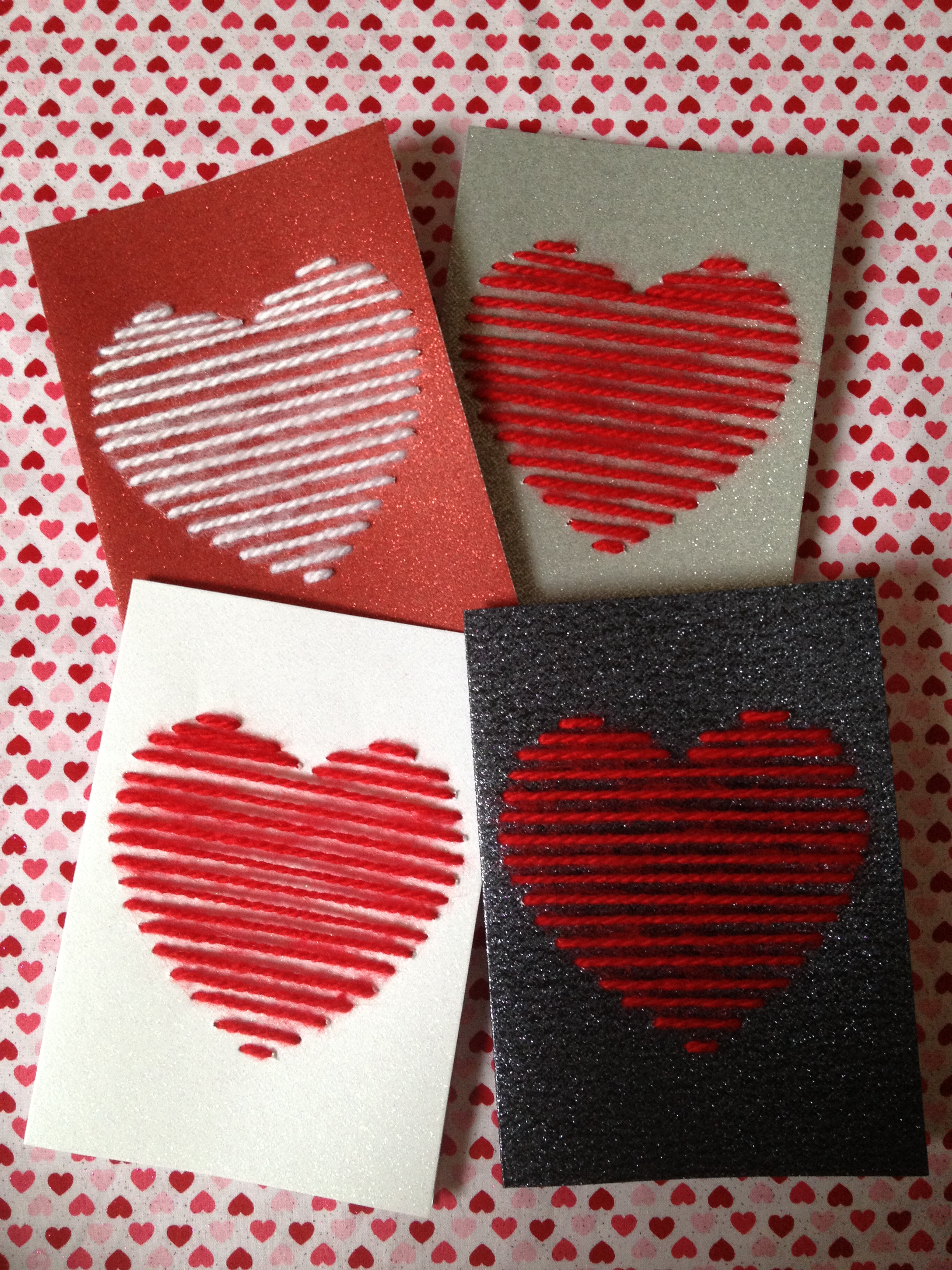 Diy Yarn Heart Valentine Day