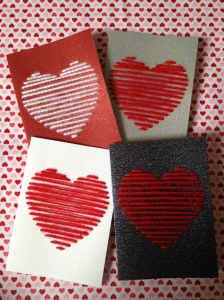 DIY Yarn Heart Valentine Day Cards