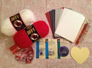 Valentine's Day Card Supplies